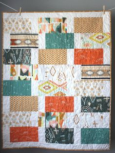 Southwest Baby Quilt-Gender Neutral Quilt-Crib by GoBeWonderful