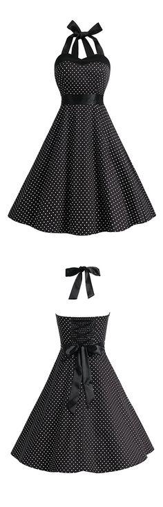 vintage style dress,retro dress,polka dots dress,50s dress,rockabilly style dress