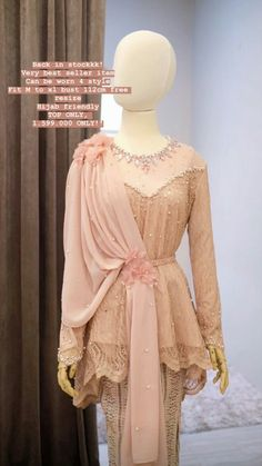 Kebaya Modern Hijab, Kebaya Hijab, Kebaya Dress, Hijab Dress Party, Hijab Wedding Dresses, Muslim Fashion, Hijab Fashion, Dress Brokat Muslim, Stylish Kurtis Design
