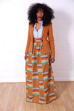 Maxi Skirts – Grass-Fields ~African fashion, Ankara, kitenge, African women dresses, African prints, Braids, Nigerian wedding, Ghanaian fashion, African wedding ~DKK