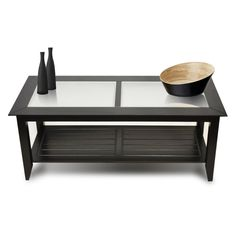 Caspian Coffee Table Solid natural bronze or mirror polished