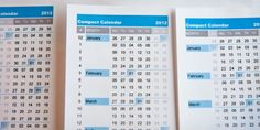 What a clever calendar!  Clear, compact, customizable, and plenty of capacity for notes on the right.
