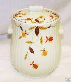 Vintage Jewel Tea Autumn Leaf Hall Cookie Jar - RARE!!!   #20903600