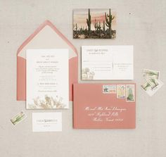 Vintage Cactus Invitation Suite via Antiquaria Design Studio