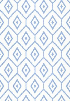 BARI IKAT, Blue, T64138, Collection Caravan from Thibaut