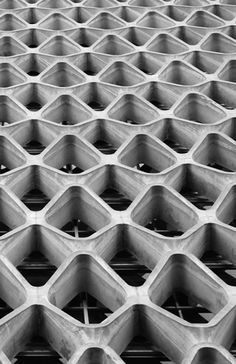 n-architektur: American Cement Building, Los Angeles Daniel, Mann, Johnson & Mendenhall (DMJM), 1964 Photo via Simbiotek View this on the map Opera House Architecture, Gothic Architecture, Interior Architecture, Futuristic Architecture, Architectural Pattern, Facade Pattern, Building Skin, Parametric Design, Zaha Hadid Architects