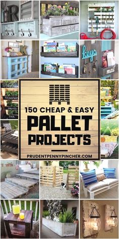 Transform free pallets into creative and beautiful furniture, decorations, planters and more! There are over 150 easy pallet ideas here to give your home and garden a personal touch. Before we dive…More #diypalletideas