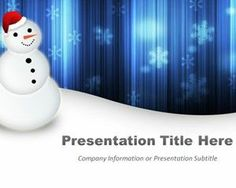 Happy Snowman Blue PowerPoint Template