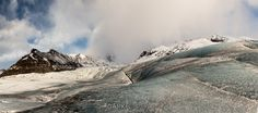 Svinaefellsjokull_Glacier Walk Panorama © 2014 Dennis Krukover & Dark Eclipse Studios  ★★★ Limited Edition Fine Art Print of this image & others are available for purchase directly from the artist @www.darkeclipse.com ★★★ Thank you for your support of independent photographers on Pinterest ★★★