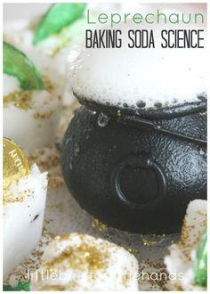 St Patricks Day Baking Soda Science Coin Hunt