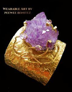 Amethyst cuff by Peewee Benitez