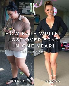 Kate Writer Lost Over 50KGS In A Year To Completely Transform Her Body!