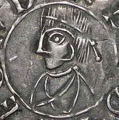 A silver penny with Alfred the Elder on it.