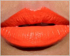 MAC morange lipstick. Maybe not for everyone, but I think it's so fresh and fun.