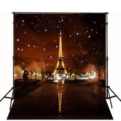 Amazon.com : 5x7ft Lights up the Night Paris Eiffel Tower Photography Backdrop Background FT0432 : Camera & Photo