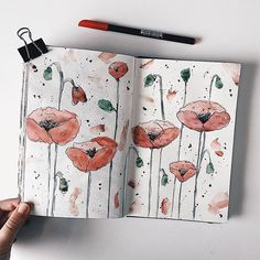 Incredible watercolour poppies by @laia_journal so so pretty #notebooktherapy - Shop our notebooks pens and more at the link in bio: @notebook_therapy - - #bujo #travelersnotebook #monthlyspread #bujoideas #bujoinspo #bujomonthly #bulletjournaladdict #bulletjournalcommunity #bulletjournallove #bulletjournaling #stationeryaddict #stationerylove #sakuramicron #studyblr #studyspo #studygram #stationerylove #doodleart #washi #bujoweekly #bujoinspiration #bujolove #midori #studyblr #kawaiiart…