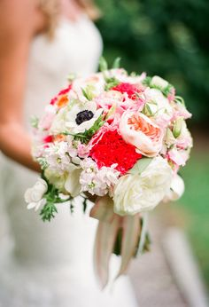 Stunning blush, white and pink bouquet. !