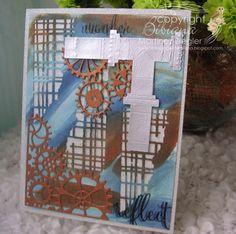 steampunk with memory box | par Bibianas Cards-r-recherche google