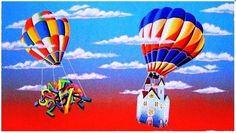 MELONISKI DA VILLACIDRO - TRASLOCO MONGOLFIERE - serigrafia - 40 x 60 cm