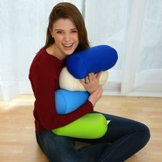 The pillow is soft and squishy with a soft and stretchy polyester outer casing.
