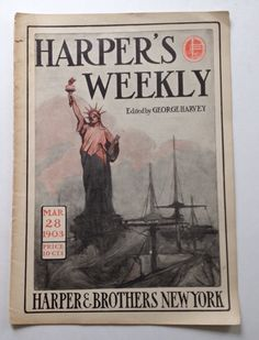 Vintage #Harpers Weekly Magazine 1903 March 28 Blanche Bates The #Boxers #China Germany Turkish Empire