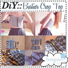 """""""DiY:: Bustier Cropped Top"""" by tip-sistas on Polyvore"""