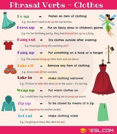 CLOTHING Phrasal Verbs