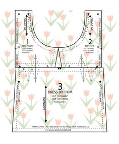 How You Play the Game Jem Dress Pattern.jpg (2410×2930) | instructions are also on this page