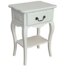 Table chevet 1 tiroir en bois massif ''Aunis''
