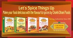 Spice up your meal with rich flavours of Chokhi Dhani SpicesSpice up your meal with rich flavours of Chokhi Dhani Spices Biryani, Spice Things Up, Cereal, Spices, Foods, Meals, Make It Yourself, Breakfast, Food Food
