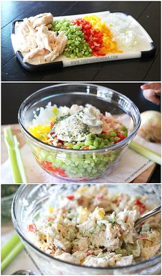 Homemade Ranch Chicken Salad Recipe. Easy and Healthy for the WIN!!! This is perfect food for a baby or wedding shower too!