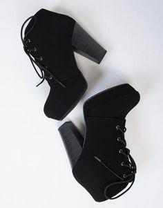 Lace-Up Platform Booties