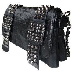 Rockabilly Punk Rock Baby Black Fashion Skull Bag Handbag Shoulder No.8