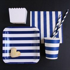 Mon set de table aux couleurs marines // navy table set