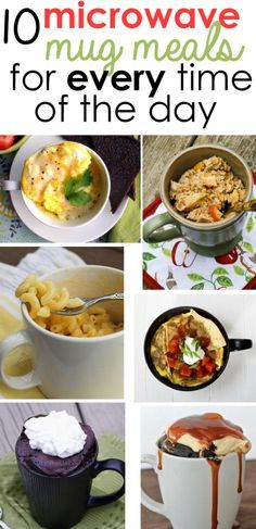 10 microwave cup meal recipes for * every * daytime! 10 microwave cup meal recipes for * every * daytime! Cooking For One, Meals For One, Cooking Tv, Cooking Kale, Cooking Pasta, Cooking Fish, Cooking Steak, Cooking Salmon, Mug Cake Receta