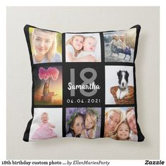 Photo collage best mom mother world black throw pillow - Xmas ChristmasEve Christmas Eve Christmas merry xmas family kids gifts holidays Santa Black Throws, Black Throw Pillows, Mom Day, World Photo, 16th Birthday, 18th Birthday Gifts For Girls, Personalized Mugs, Custom Photo, Best Mom