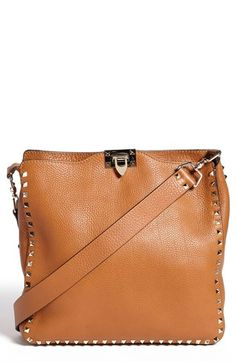 $2,295, Tan Leather Crossbody Bag: Valentino Rockstud Crossbody Bag. Sold by Nordstrom. Click for more info: http://lookastic.com/women/shop_items/60023/redirect