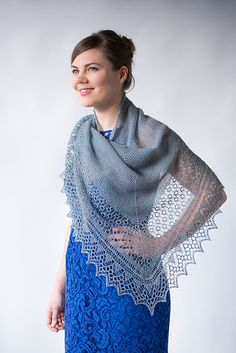 Ravelry: Lunna Voe pattern by Ysolda Teague. Wow! What an immaculate shawl