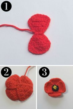 Crochet Flowers Design Untitled design - Free pattern for a crocheted poppy thats quick to stitch up Knitted Poppy Free Pattern, Crochet Bow Pattern, Crochet Motifs, Daisy Pattern, Crochet Flower Patterns, Crochet Patterns Amigurumi, Crochet Puff Flower, Crochet Bows, Crochet Flower Tutorial