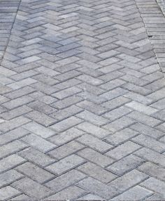 Grey Herringbone Brick Walkway
