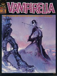 Vampirella #4, April 1970. Cover art by Vaughn Bode and Jeff Jones.