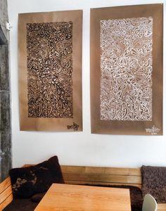 Artist Tracey Tawhaio beautiful Maori designs on brown paper Maori Designs, Nz Art, Maori Art, Kiwiana, Graphic Patterns, Medium Art, Abstract Landscape, Amazing Art, Gallery Wall