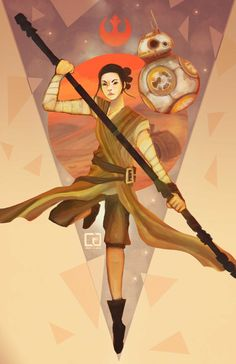 Women of Star Wars — conniferuswhite:   Rey and BB ready to fight and...