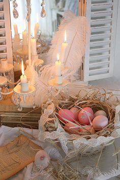 nelly vintage home: Великденски розови яйца