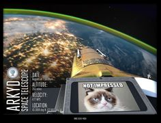 Cat pictures on the internet are yesterday's news. Cat pictures in space are the new hotness. You can make it happen with the Arkyd Space Telescope! #spaceselfie #arkyd