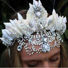 Burning man crown, seashell crown