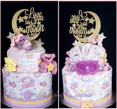 Love You To The Moon & Back Diaper Cake www.facebook.com/DiaperCakesbyDiana