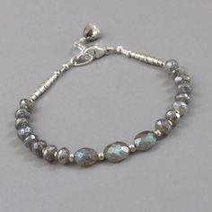 Labradorite Spectrolite Gemstone Sterling Silver Bead by DJStrang