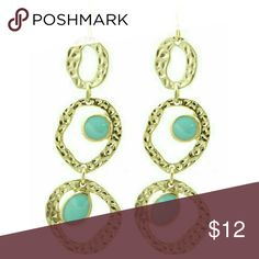 Selling this Hammered gold & mint dangle earrings on Poshmark! My username is: jilld731. #shopmycloset #poshmark #fashion #shopping #style #forsale #Jill Marie Boutique #Jewelry