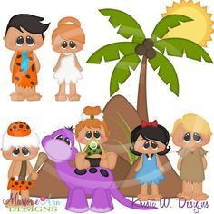 Stoneage Family~SVG-MTC-PNG plus JPG Cut Out Sheet(s) Our sets also include clipart in these formats: PNG & JPG